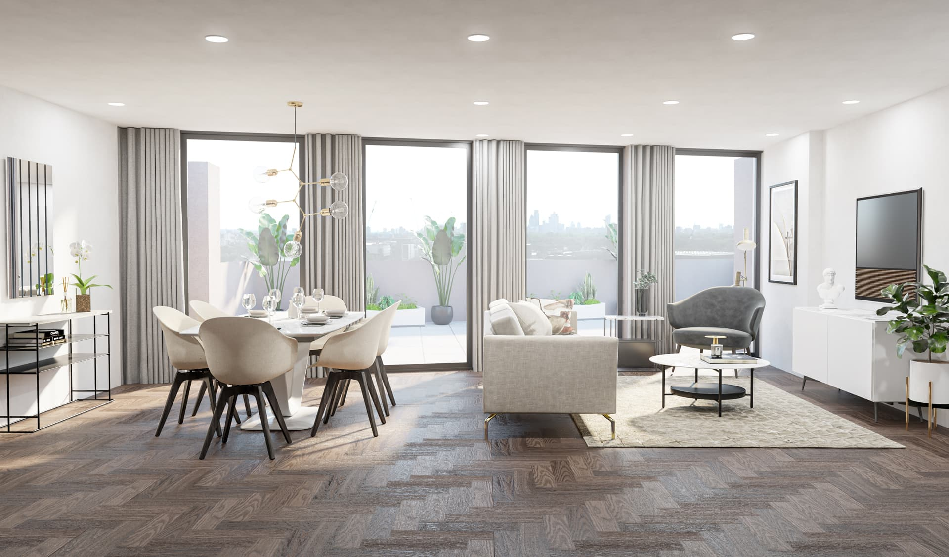 10/12 Living Room, Loft, Design Package