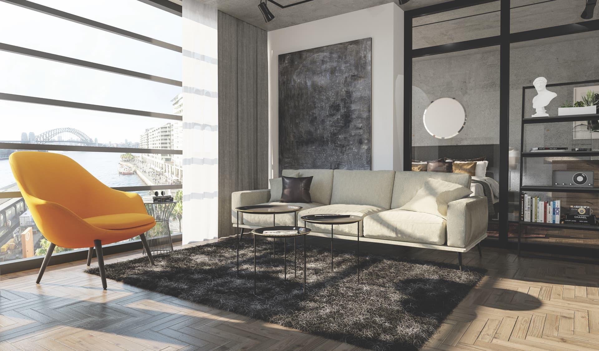 1/12 Living Room, Loft, Design Package