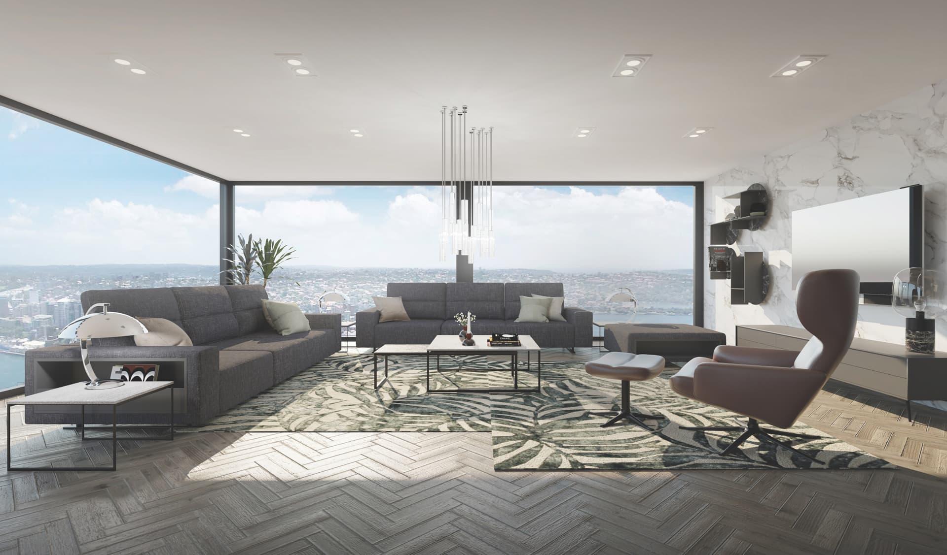 3/12 Living Room, Loft, Design Package
