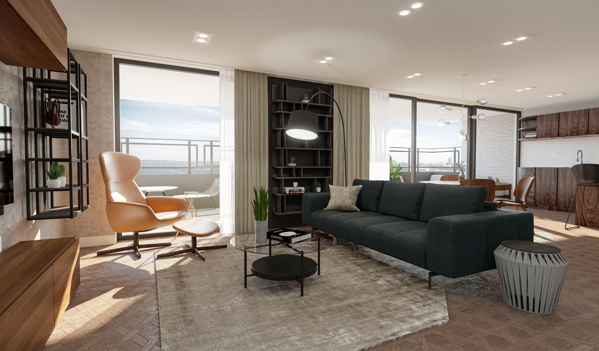 7/12 Living Room, Loft, Design Package